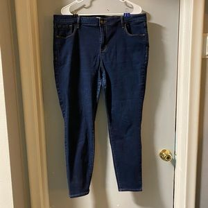 Old Navy Deep blue Rockstar Super Skinny jeans 18